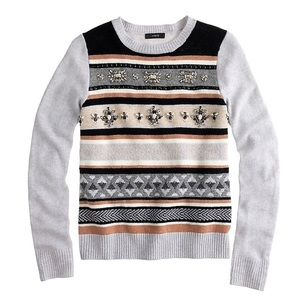 J. Crew Fair Isle Stripe Sweater (S)